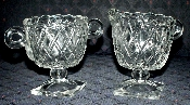 Indiana Glass Pretzel Creamer & Sugar Bowl Set