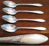 Oneida Community Lady Hamilton Oval Bowl Soup Serving Spoons