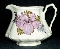 Cash Family Hand Painted Purple Hibiscus Fluted Water Pitcher