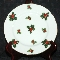 Lefton Hand Painted Holly & Berries Gold Trimmed Dessert Plates