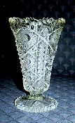 Imperial Glass EAPG NuCut Celery Vase Hobstar Daisy & Button