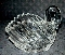 Gloria Vanderbilt Lead Crystal Swan Vase West Germany
