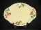 Continental Kilns Glen Arbor Yellow Oval Platter Cake Plate