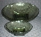 Hazel Atlas Capri Pebblestone Green 7 Piece Salad Bowl Set