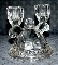 Imperial Glass Crocheted Crystal Double Candle Holders