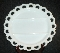Anchor Hocking Lace Edge Milk Glass 3-Part Relish Tray
