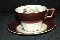 American Limoges Promenade Burgundy Cup & Saucer Sets