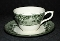 Wedgwood Kent Green Williams Sonoma Cup & Saucer Sets