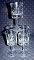 Javit Hand Cut Crystal Clipper Collection Carafe & 5 Goblets