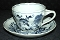 Blue Danube Blue Onion Ribbon Mark Cup & Saucer Sets