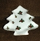 Lefton Ivy Hand Painted Christmas Tree Relish Tray