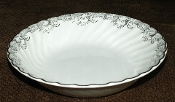Johnson Brothers Snowhite Regency Platinum Lace Cereal Bowls
