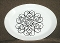 Johnson Brothers Snowhite Black Scroll Oval Platter