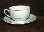 Johnson Brothers Mint Green Pareek Cup Saucer Sets