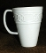 Pfaltzgraff Links Embossed White Stoneware Mugs