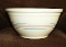 Nelson McCoy Pink Blue Stripes Twelve Inch  Mixing Bowl