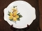 Salem China Yellow Hibiscus Tab Handled Platter