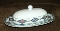 Pfaltzgraff Atmosphere Crystaflora Covered Butter Dish