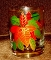 Culver Glass Poinsettia Double Old Fashion Glasses