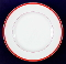 Williams Sonoma Brasserie Red Porcelain Luncheon Plates
