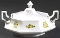Johnson Brothers Lemon Tree Octagonal Covered Vegetable Bowl