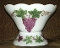 Anchor Hocking Painted Vintage Grape Milk Glass Punch Bowl Set