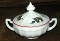 Westmoreland Milk Glass Christmas Holly Covered Candy Dish