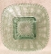 Imperial Glass Green Beaded Block Stippled Luncheon Plate