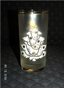Culver Gold Accent White Enamel Christmas Tree Tumblers
