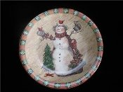 Certified Intl Susan Winget Country Snowman Dinner Plates