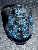 Libbey Eventide Blue Sculpted Juice Glasses
