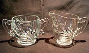 Indiana Glass Willow WOM Cream & Sugar Set