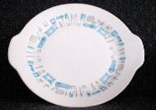 Royal China Co Blue Heaven Tab Handled Platter