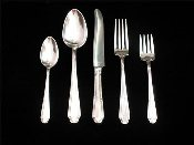 Rogers-International Silver PLAZA Silver Plated Flatware Set