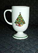 Mount Clemens Pottery Christmas Tree Footed Mugs