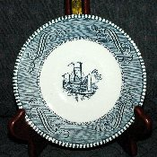 Royal China Currier & Ives Tea Saucers