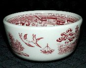 Sterling China Co Willow Red Chili Bowls
