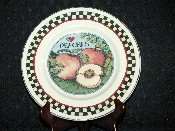 Susan Winget Certified Intl Country Fruits Peach Dinner Plates