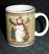Certified International Susan Winget Country Snowman Mugs