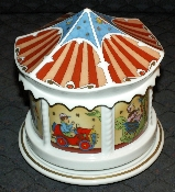 Hutschenreuther Hand Painted Porcelain Musical Carousal