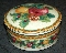 Mikasa Holiday Fruit Covered Round Box Candy Jar