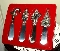 Wallace Silver Plated Christmas Four Canape Spreaders