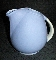 Hall China Cadet Blue Sani-Grid Water Pitcher