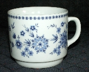 Seltmann Bavarian Blue Porcelain Mugs
