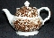Enoch Wood's English Scenery Brown Wood's Ware Tea Pot