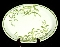 Franciscan Greenhouse Oval Serving Platter