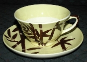 Weil Ware Bambu Yellow Cup & Saucer Sets