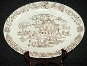 Royal China Brown County Oval Serving Platter