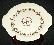 Royal China Kristine Tabbed Handle Serving Platter Cake Plate