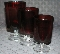 Durand Cristal D'Arques Cavalier Ruby Red Juice Glasses